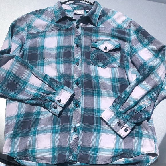 Vans Other - Vans Plaid Button Down Shirt Sz Lg Flannel Green